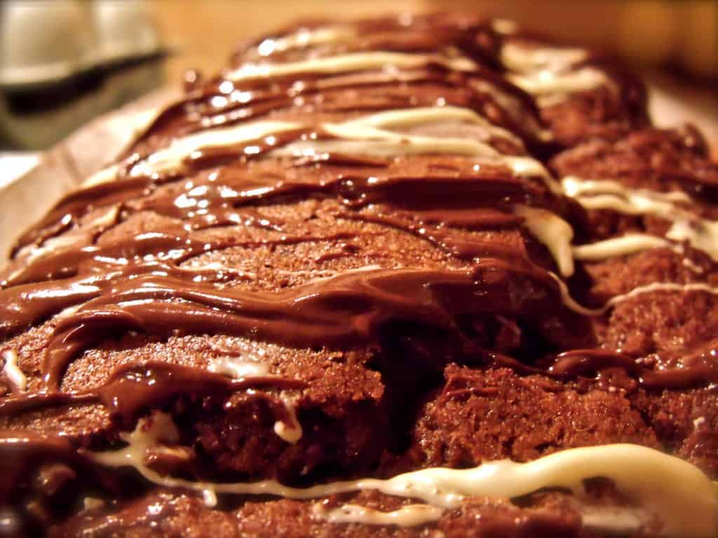 How Not to Decorate a Double Chocolate Loaf Cake |