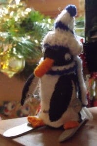 Skiing Christmas Penguin