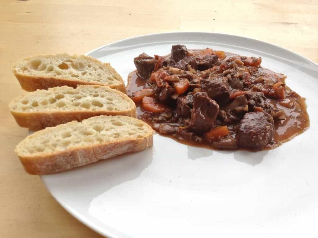 Beef stew with tomatoes
