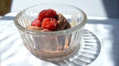 Raspberry & Chocolate Ice Cream