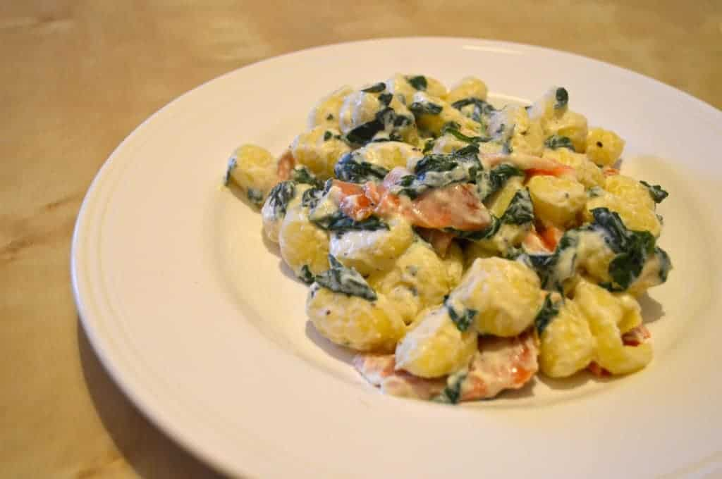 Spinach & Smoked Salmon Gnocchi