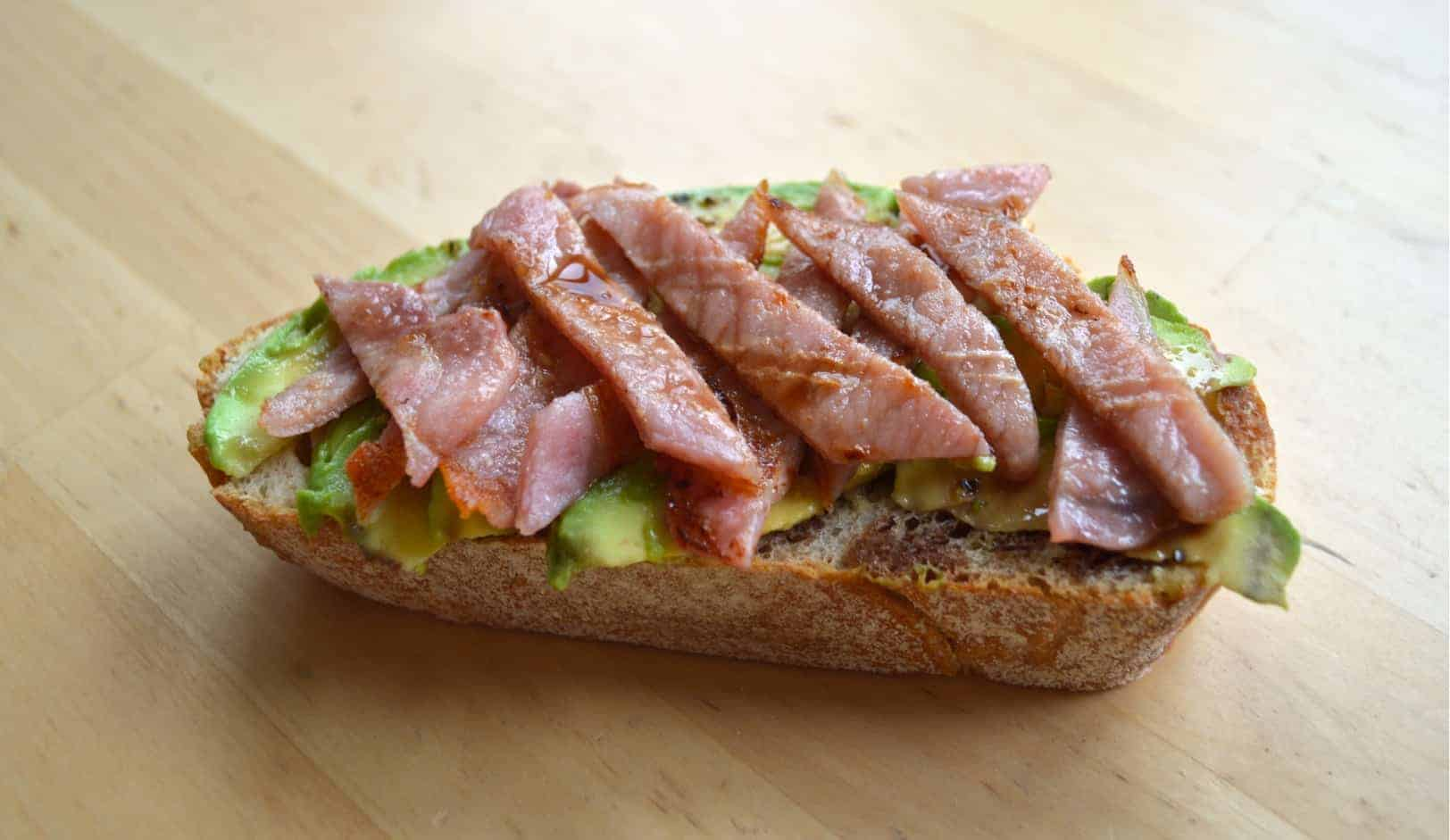 Bacon and avocado toast