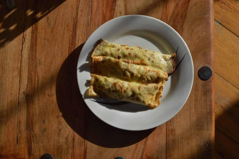 Savoury Cheese crêpes