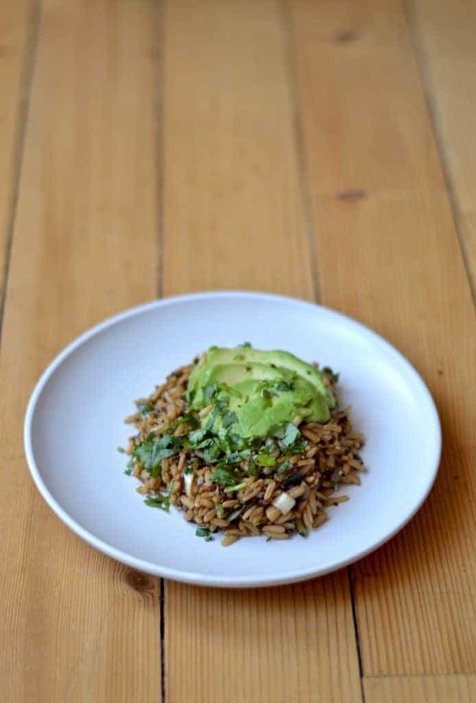 avocado rice bowl