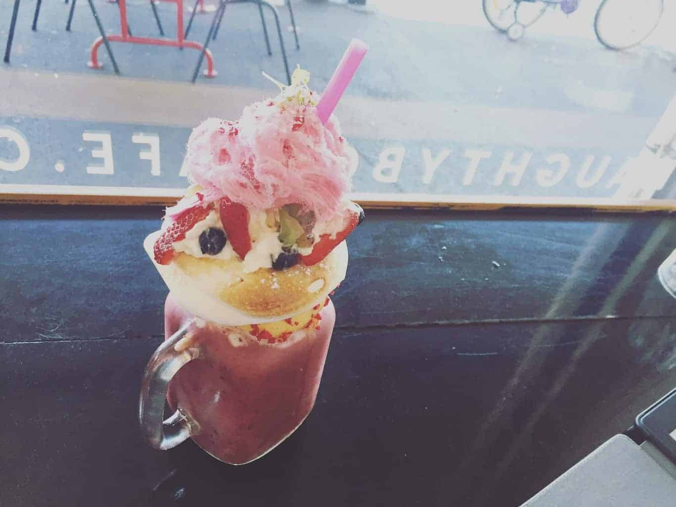 Milkshake, Naughty Boy Cafe, Melbourne
