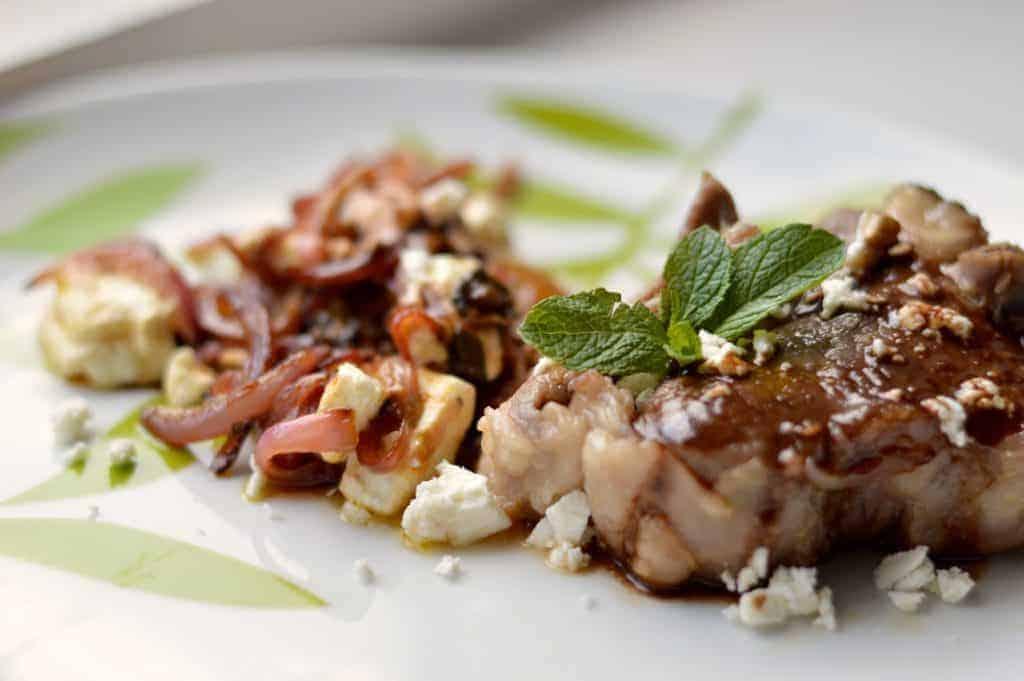 Mint and feta lamb chop