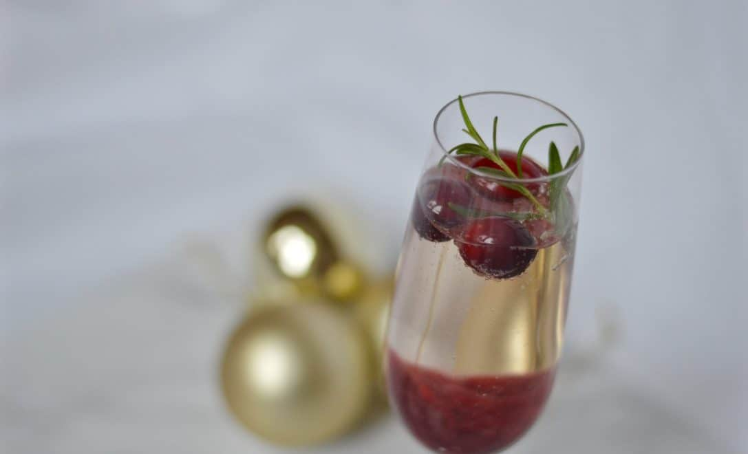 Cranberry prosecco cocktail