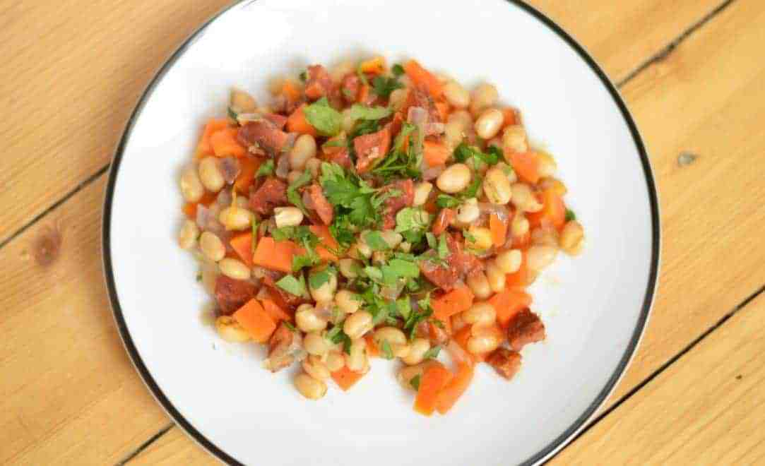 Haricot bean stew