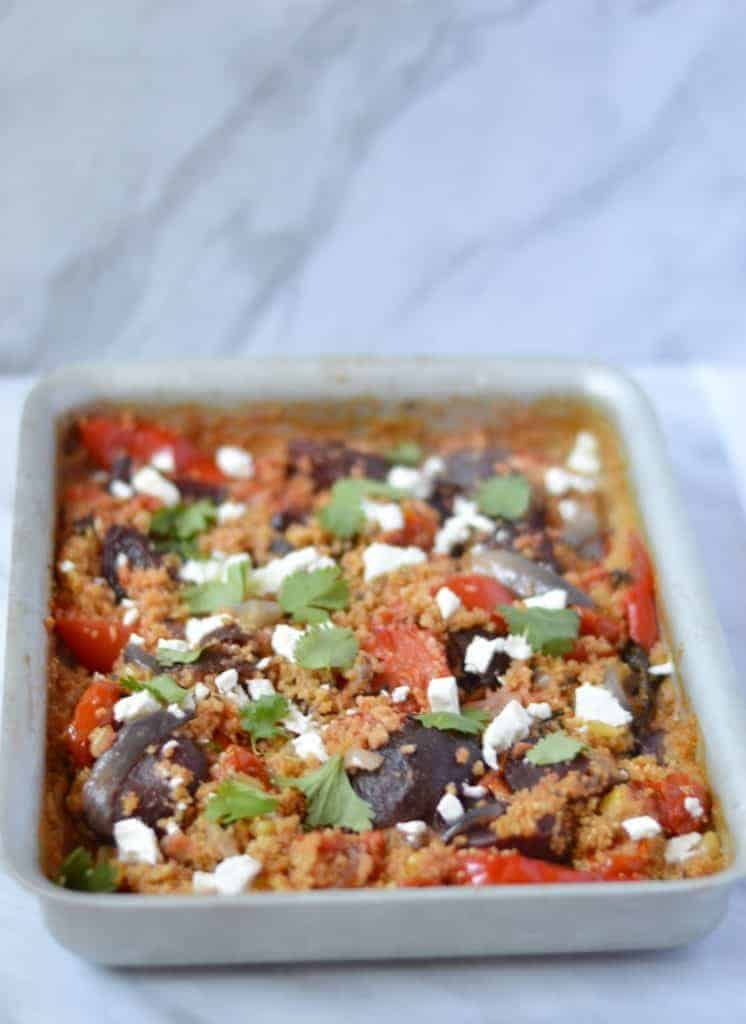 one pan couscous and roast vegetables
