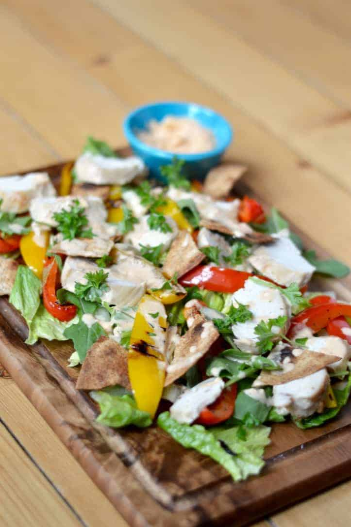 Chicken salad with chipotle mayo