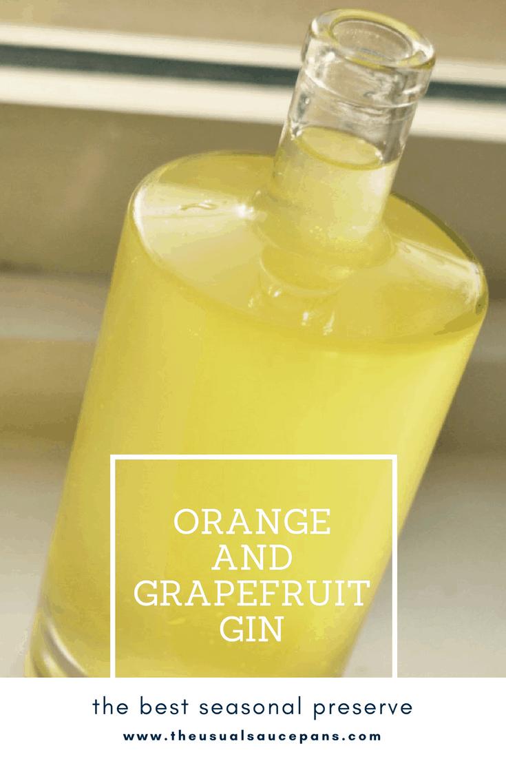 orange and grapefruit gin recipe pin