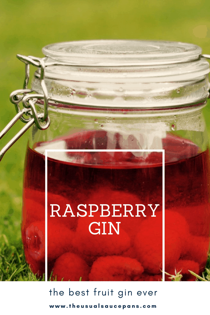 raspberry gin recipe pin